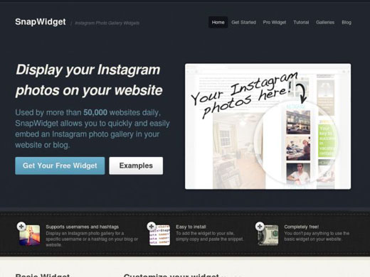 عرض صور الإنستقرام في موقعك